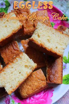 YUMMY TUMMY: Eggless Vanilla Sponge Cake Recipe