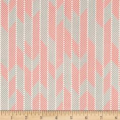 Art Gallery Minimalista Darts Watermelon from @fabricdotcom  From Art Gallery, cotton print is perfect for quilting, apparel and home decor accents. Colors include watermelon, grey, and white. Art Gallery Fabric features 200 thread count of finely woven cotton.