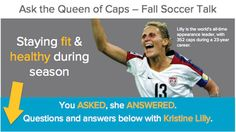 Kristine Lilly answers questions from her fans! Follow along at: http://ow.ly/dNSpN