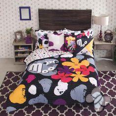 Muu Floral design Double Sided Comforter Set $174.90-$203.90 - A Bit Unique Boutique