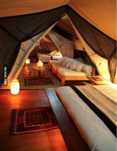 This is an attic. it looks like a Magical Harry Potter tent!!