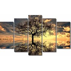 Tree Of Life, Canvas, Decoration, Living Room Designs, Modern Design, Scenery, Pastel, House Design, Interior Design