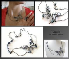 Vanessa- wire wrapped silver necklace by mea00