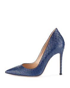 S07DN Gianvito Rossi Python Pointed-Toe Pump | FW 2014 | cynthia reccord