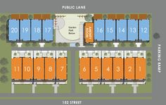 Site Plan - South Surrey Town Homes - Townhouses | Europa Living
