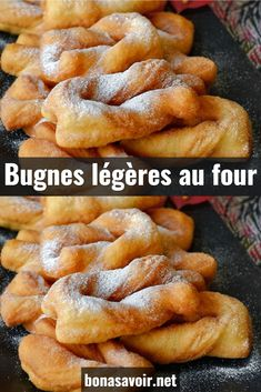 Great classics of mardi gras, bugnes are always the delight of young and old gourmands. But this recipe from the South East of France is not the lightest. To treat yourself without feeling guilty, we offer a recipe for baked bugnes. Beignets, Crepe Recipes, Dessert Recipes, Churros, Detox Recipes, Healthy Recipes, Beignet Recipe, Thermomix Desserts, Food Hacks