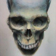 Draw, dark, terror, ilustration, skull,