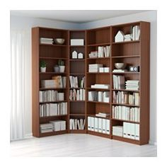 IKEA - BILLY, Bookcase, black-brown, , Adjustable shelves can be arranged according to your needs.A simple unit can be enough storage for a limited space or the foundation for a larger storage solution if your needs change.Surface made from natural wood veneer.Narrow shelves help you use small wall spaces effectively by accommodating small items in a minimum of space.