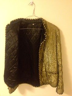 Vintage Chanel Quilted Gold Metallic Bomber by lolitaslollipop, $400.00