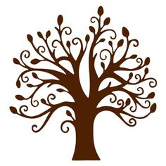 "Chocolate Brown Tree Vinyl Wall Sticker Decal 22"":Amazon:Home & Kitchen"