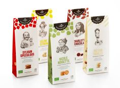 Packaging of the World is a package design inspiration archive showcasing the best, most interesting and creative work worldwide. Biscuits Packaging, Bakery Packaging, Cookie Packaging, Food Packaging Design, Packaging Design Inspiration, Brand Packaging, Packaging Ideas, Product Packaging, Branding Design