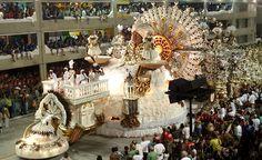 Desfile de Carnaval en el sambodromo de Rio de Janeiro.