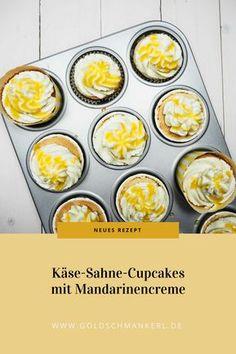 Käse-Sahne-Cupcakes mit Mandarinencreme