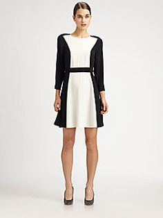 Marc by Marc Jacobs - Silk Avery Dress Color Blocking