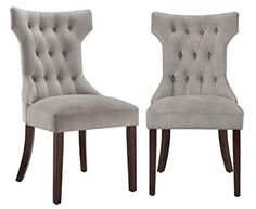 Dorel Living Clairborne Tufted Upholestered Dining Chair, Taupe, Set of 2, http://www.amazon.com/dp/B00P5VKR6Q/ref=cm_sw_r_pi_awdm_EFqxvb04DFPK0