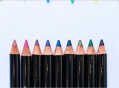 Lip and eye pencils in the best colors
