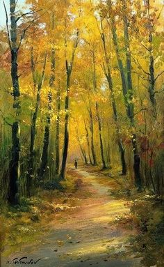 Ideas Painting Nature Landscape Fall For 2019 Watercolor Trees, Watercolor Landscape, Landscape Art, Landscape Paintings, Watercolor Paintings, Watercolor Drawing, Art Oil Paintings, Watercolor Artists, Indian Paintings