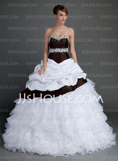 Wedding Dresses - $229.99 - Ball-Gown Sweetheart Floor-Length Taffeta Organza Wedding Dresses With Lace Beadwork (002015724) http://jjshouse.com/Ball-Gown-Sweetheart-Floor-Length-Taffeta-Organza-Wedding-Dresses-With-Lace-Beadwork-002015724-g15724