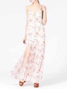 Платье в пол с цветочным принтом - Платья   LIMÉ