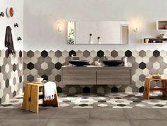 Hexagonal Wall Tiles - InteriorZine