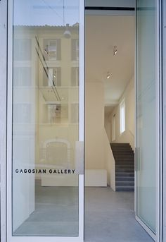 Gagosian Art Gallery, Roma by Officina Del Disegno, aluminum framed glass doors.  Favorite doors of www.andrearodman.com  A Vancouver based Interior Design Firm.
