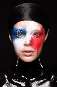 red white and blue makeup ideas