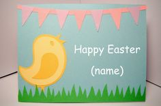 Personalized Happy Easter Handmade Cricut Card