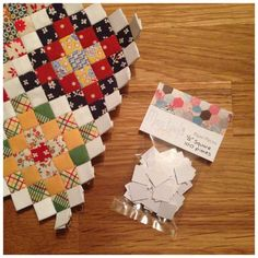 "1/2"" square paper pieces - miss leela handmade"