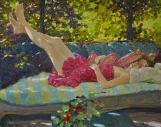 """"""" Her Summer Place"""" 24 x 30 by David P. Hettinger  http://davidhettinger.com/"""
