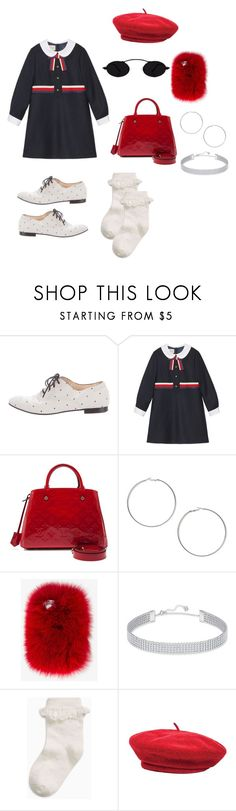 """""""Paris ?"""" by kimcindyjarvis ❤ liked on Polyvore featuring Tod's, Gucci, Louis Vuitton, Miss Selfridge, Wild & Woolly, Swarovski and Brixton"""