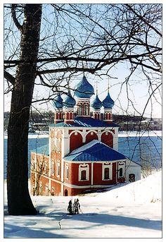 The Kazan Church (1758) on Volga river, Romanov-Borisoglebsk, Russia Copyright: Tatiana Pavlova