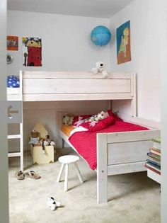 Even if your kids don't share a room.  Great space saver and great for sleepovers.