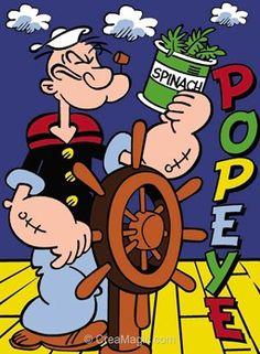 Popeye spinach canevas - Margot
