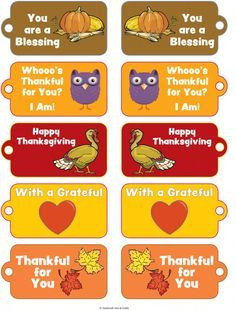 free printable thanksgiving tags - Google Search                                                                                                                                                                                 More