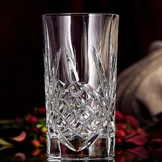 This is one of Godinger's most well-loved patterns, Dublin crystal glassware unites time-honored European craftsmanship and classic Irish style.   A member of the larger Shannon collection, this set of 12 crystal highballs features dazzling starburst etchings that are centered low on the straight sides and stretch up to just below the rims and down over the thick base.   Hand-crafted of weighty 24 percent lead crystal, these versatile 10-oz glasses suit formal entertaining,