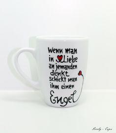 Engel Geschenk,deine Engel Tasse mit Engel Spruch von Lovely-Cups via dawanda.com