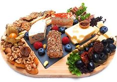 Landeluxe Bamboo Cheese Board and Cutlery Knife Set,Slate Cheese Board with Markers,Charcuterie Board,Appetizer Serving Tray, Cheese Plate Wooden Cheese Board, Slate Cheese Board, Cheese Board Set, Party Food Buffet, Party Food Platters, Charcuterie Recipes, Charcuterie And Cheese Board, Meat And Cheese, Cheese Platters