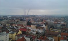 View from the top of the church in Plzen, Czech Republic