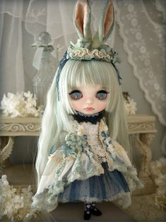 Custom blythe - Green dancer by Milk Tea