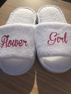 flower girl slippers , flowergirl gift , wedding slippers ,  flower girl , flowergirl dress , flowergirl , bridesmaid shoes , personalised by personaliseddiamante on Etsy https://www.etsy.com/uk/listing/505081117/flower-girl-slippers-flowergirl-gift