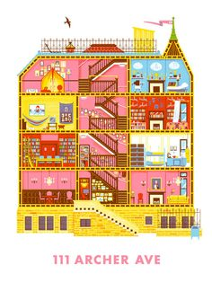 Creative Posters Show the Cross Sections of Famous Wes Anderson Locations | Mental Floss