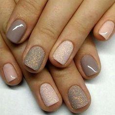 Just the pink sparkles # nails simple - Nageldesign - nagellack Cute Nails, Pretty Nails, My Nails, Fall Nails, Summer Nails, Fall Manicure, Spring Nails, Neon Nails, Fall Nail Colors