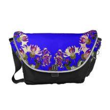 Honeysuckle Flower Floral Garden Messenger Bag