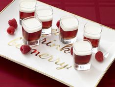 Nuts and Berries Frangelico Shooter: One quick way to turn up your holiday soiree: Add booze. Prepare these four tasty cocktails for your guests to sip and savor. No need to save any for Santa.