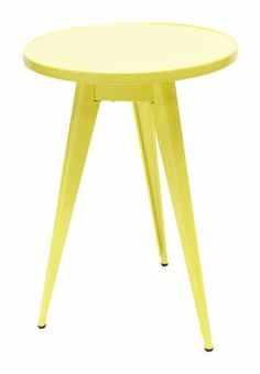55 Small Table Sulfur Yellow By Tolix   Design Furniture And Decoration  With Made In Design