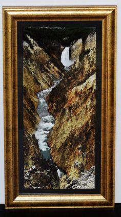 Framed Photography Yellowstone Falls Waterfall by GatewayAlpha, $69.95