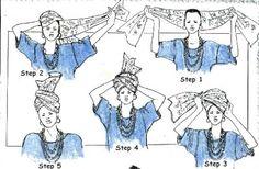 How to tie basic gele.