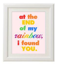 Printable Nursery Art- Rainbow Baby Girl on Etsy, $8.00