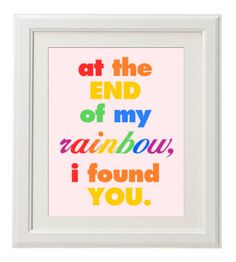 Printable Nursery Art- Rainbow Baby Girl on Etsy, $8.00