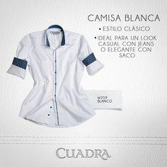 Una camisa blanca; siempre básica,siempre indispensable.